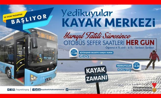 Yarıyıl tatilinde Yedikuyular'a otobüs seferleri başlıyor