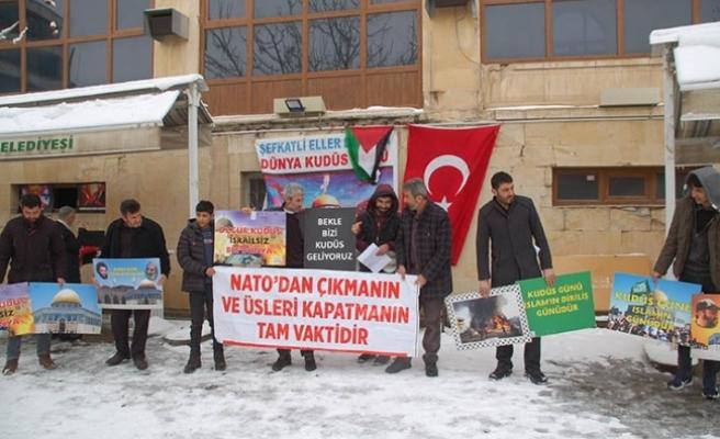 ABD'nin sözde Orta Doğu Barış Planı protesto edildi