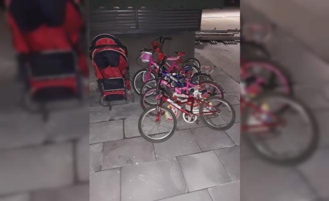 Apartmanlardan bebek arabası ve çocuk bisikleti çalan şüpheli tutuklandı