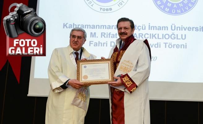 KSÜ Senatosu, TOBB Başkanı Hisarcıklıoğlu'na fahri doktora unvanı verdi
