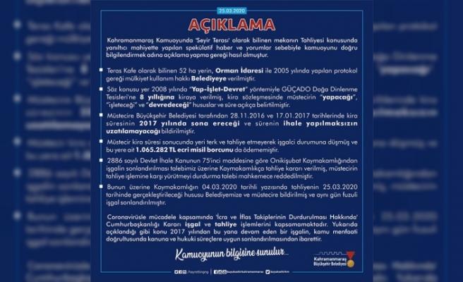 Büyükşehir'den 'Seyir Terası' açıklaması
