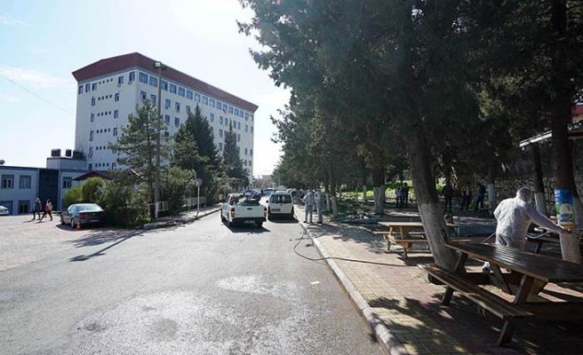 Hastaneler bölgesi de dezenfekte edildi