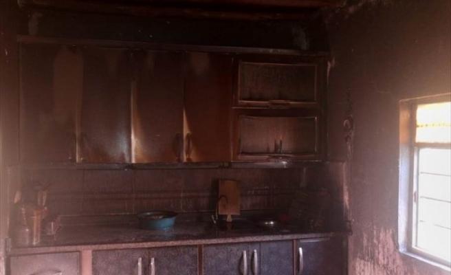Afşin'de Evde Çıkan Yangın Söndürüldü