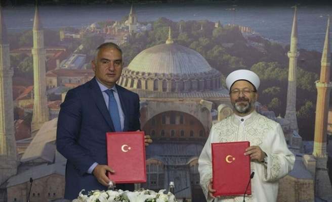 'Ayasofya' protokolü imzalandı
