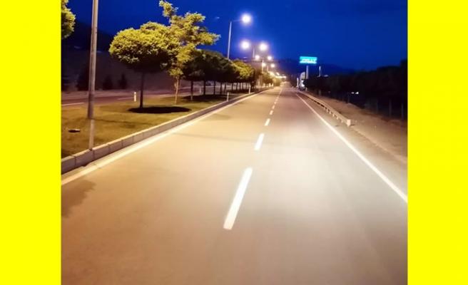 KMBB Afşin'de yol çizgilerini yeniledi