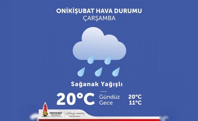 Onikişubat'tan vatandaşlara sağanak yağış uyarısı
