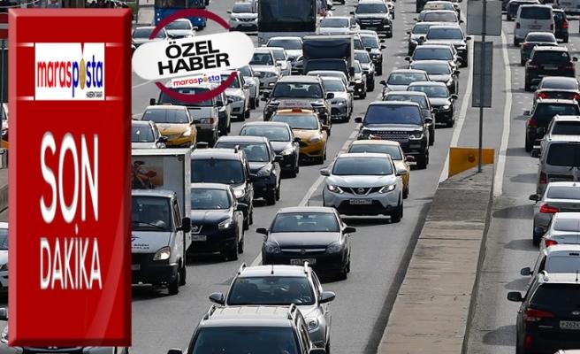 Kahramanmaraş'ta trafiğe kayıtlı araç sayısı 247 bin 281 oldu