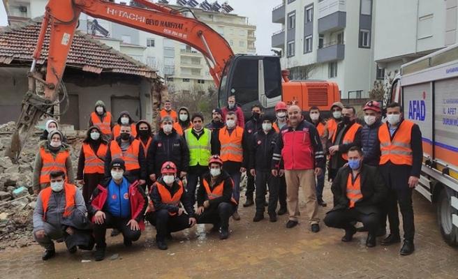 Arama Kurtarma Eğitimleri ve Tatbikatı Pazarcık'ta gerçekleştirildi