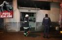 Yangın çıkan evde mahsur kalanlar kurtarıldı