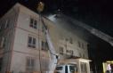 Okul çatısında yangın çıktı, hasar oluştu!