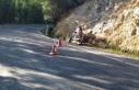 Motosiklet devrildi: 1 ölü, 1 yaralı