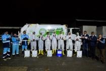 Dezenfekte ekibinden sağlık çalışanlarına anlamlı destek