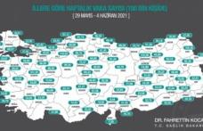 100 bin kişide koronavirüs vaka sayısı 24.94 oldu…