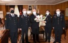 Jandarma'dan Vali Coşkun'a ziyaret