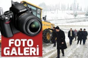 Dulkadiroğlu Belediyesi'nden karla mücadele çalışmaları