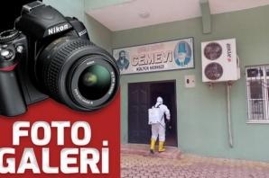 Dulkadiroğlu'nda cami ve cem evleri dezenfekte oluyor