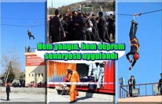 İTFAİYE'DEN 'GERÇEK GİBİ' TATBİKAT