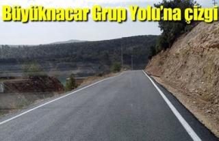 BÜYÜKNACAR GRUP YOLU'NA ÇİZGİ