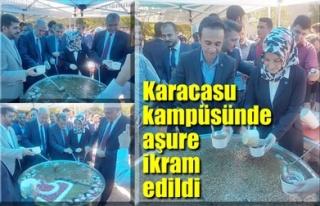KARACASU KAMPÜSÜNDE AŞURE İKRAM EDİLDİ