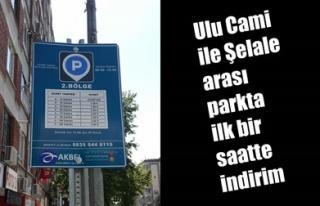 ULU CAMİ – ŞELALE ARASI PARKTA İLK BİR SAATTE...