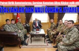 İTALYANLAR'DAN VALİ ÖZKAN'A ZİYARET