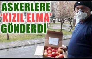 ASKERLERE 'KIZIL ELMA' GÖNDERDİ
