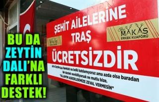BU DA ZEYTİN DALI'NA FARKLI DESTEK!