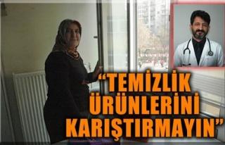 'TEMİZLİK ÜRÜNLERİNİ KARIŞTIRMAYIN'
