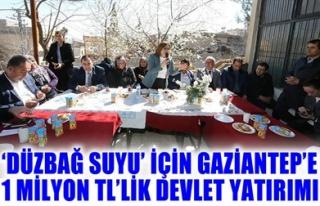 DÜZBAĞ SUYU İÇİN GAZİANTEP'TE 1 MİLYON TL'LİK...