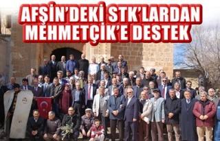 AFŞİN'DEKİ STK'LARDAN MEHMETÇİK'E DESTEK