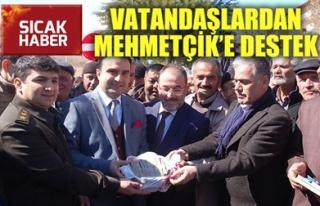 VATANDAŞLARDAN MEHMETÇİK'E DESTEK
