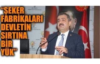 'ŞEKER FABRİKALARI DEVLETİN SIRTINA BİR YÜK'