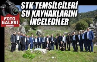 STK TEMSİLCİLERİ SU KAYNAKLARINI İNCELEDİLER