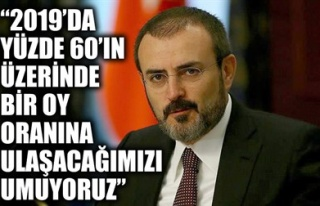 '2019'DA YÜZDE 60'IN ÜZERİNDE BİR OY ORANINA...