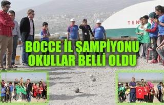 BOCCE İL ŞAMPİYONU OKULLAR BELLİ OLDU