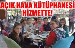 AÇIK HAVA KÜTÜPHANESİ HİZMETTE!
