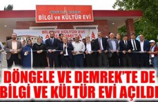 DÖNGELE VE DEMREK'TE DE BİLGİ VE KÜLTÜR EVİ...