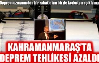 KAHRAMANMARAŞ'TA DEPREM TEHLİKESİ AZALDI