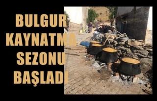 BULGUR KAYNATMA SEZONU BAŞLADI