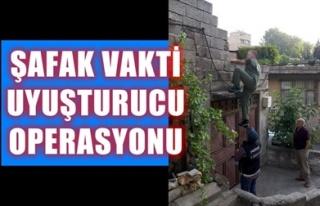 ŞAFAK VAKTİ UYUŞTURUCU OPERASYONU