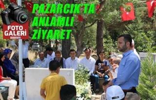 PAZARCIK'TA ANLAMLI ZİYARET