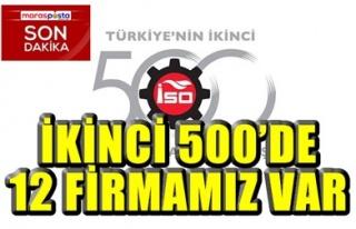 İKİNCİ 500'DE 12 FİRMAMIZ VAR