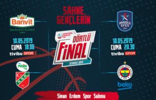 Basketbol Gençler Ligi'nde Dörtlü Final