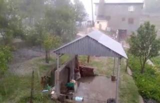 Dolu yağışı etkili oldu