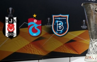 Beşiktaş, Trabzonspor ve Başakşehir'in UEFA...