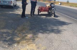 Jandarmadan motosiklet denetimi