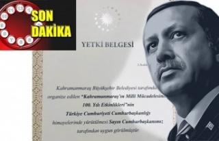 Kahramanmaraş'ın 100. Yılı, Erdoğan'ın himayesinde…