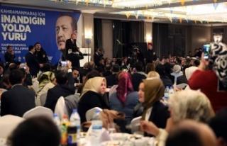 Erdoğan, AK Parti Teşkilatı yemeğinde konuştu