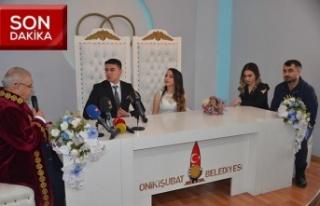 Evlenmek için Sevgililer Günü'nü seçtiler