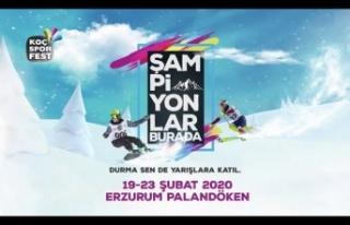 Koç Spor Fest 2020 Kış Oyunları, Erzurum'da...